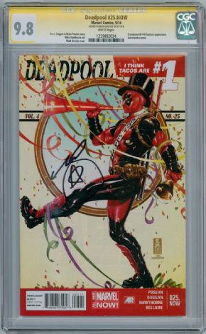 Deadpool #25 CGC 9.8 Signature Series Signed Mark Brooks Marvel comic book